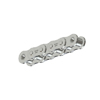 50NPHMR100 Nickel Plate Roller Chain 50 Riveted NP 100 Foot Reel 5/8 inch pitch