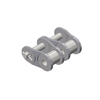 60-2NPOL Nickel Plate Roller Chain 60-2 Double Strand NP Offset Link 3/4 inch pitch