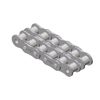 60-2NPRB Nickel Plate Roller Chain 60-2 Riveted Double Strand NP 10 Foot Box 3/4 inch pitch