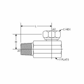 Hydraulic Fittings MP-FPS 90 Deg Elbow