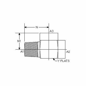 """5602-12-12-12 Pipe TEE Hydraulic Fitting 3//4/"""" Male x 3//4/"""" Female x 3//4 Female"""