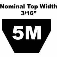 5M Section 3//16 Top Width Gates 5M1280 Polyflex Belt 50.39 Length 3//16 Top Width 50.39 Length 89021280