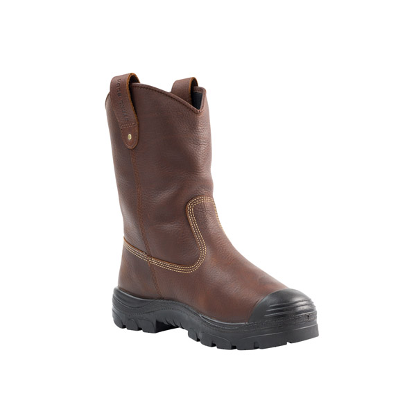 Steel Blue Mens Heeler Met WP Bump Oak Brown 10-Inch Wellington Boot